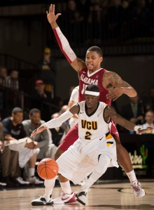VCU's Briante Weber produced nine steals in the Rams' A-10 opener against Dayton Wednesday.