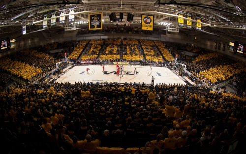 "VCU's ""Stripe the Stu"" event for the Rams Jan. 9 contest with Dayton."