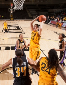 Freshman Janniina Koivunen is averaging 6.1 points and 4.8 rebounds per game this season.