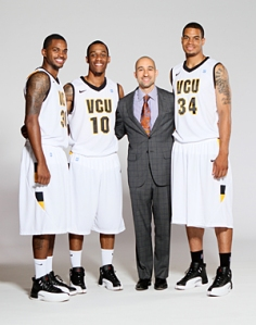 VCU Mens Basketball Team - posed shots