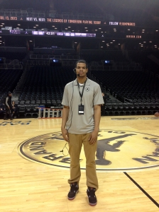 David Hinton at the Jordan Brand Classic April 13.