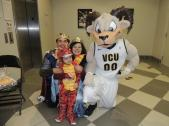 Rodney the Ram was out in full force on Halloween.