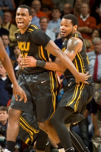 Graham and Jordan Burgess, right, scored 13 of VCU's final 15 points Tuesday.