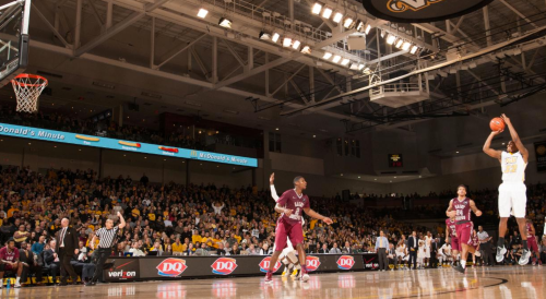Melvin Johnson (far right) led VCU with 20 points Saturday in a win over Saint Joseph's.