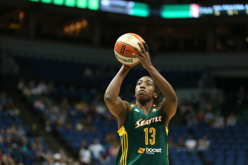 Quanitra Hollingsworth, who starred for VCU from 2005-2009, is averaging 3.7 points and 3.2 rebounds for the the WNBA's Seattle Storm this season.